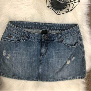 Hurley denim skirt